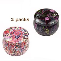 Seamless Candle Tin Jars,DIY Candle making kit,retro European style candle holder storage case f ...