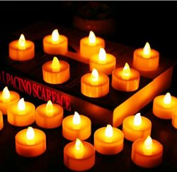 Flameless Candles, LED Tea Light Candles With Battery-Powered Wedding Candles Decorations For Mo ...
