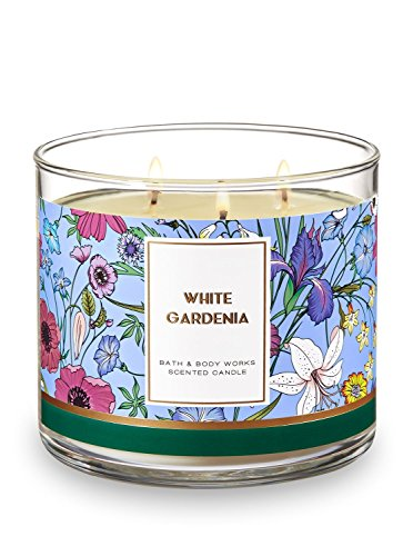 Bath And Body Works 3 Wick Scented Candle White Gardenia