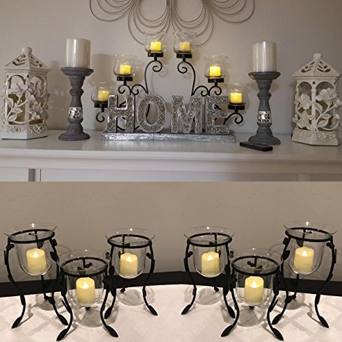 Flameless Candles,LED Tea Lights With Remote Control,Battery Operated Flicking Tealights Bluk Wi ...