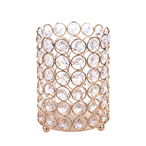 Feyarl Sparkly Crystal Makeup Brush Holder Artificial Flower Organizer Pen Holder Stand Cup Box  ...