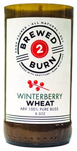 Brewed2Burn – Winterberry Wheat Craft Beer Candle 8.5oz All-Natural Soy Wax – Hand-P ...