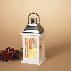 Gerson 12″H B/O Wood Lantern w/ Winter