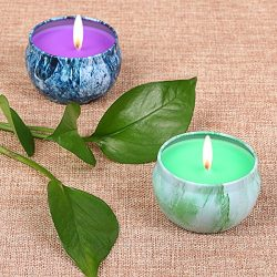 LOHOTEK Scented Candles Grapefruit & Bergamot Scented Candles, Set 2 100% Soy Candles Use fo ...