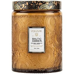 Voluspa Baltic Amber Large Glass Jar Candle, 16 oz.