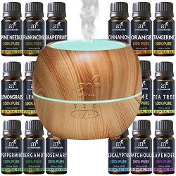 ArtNaturals Aromatherapy Essential Oil and Diffuser Gift Set – (150ml Tank & Top 16 Oi ...