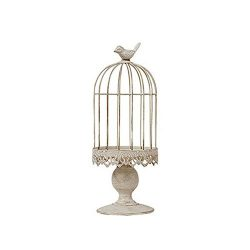 RuiXiang Open Birdcage Candle Holder,Vintage Candle Holder,Wrought Iron Decoration Birdcage Cand ...