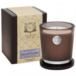 Aquiesse Lavender Chaparral Large Candle in Gift Box, Smoke Brown