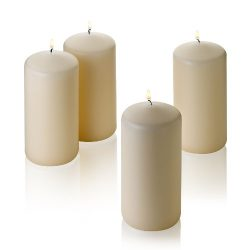 Light In the Dark 4 Off White Citronella Scented Pillar Candle 6 Inch Tall X 3 Inch Wide