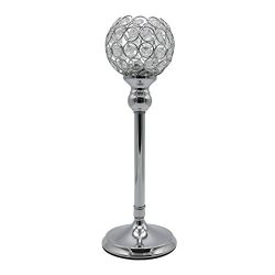 Joynest Crystal Candle Holders Coffee Table Decorative Centerpiece Candlesticks Set for Dining T ...