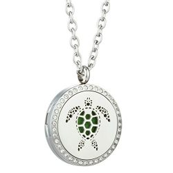 JAOYU Essential Oil Diffuser Turtle Necklace – Best Animal Jewelry For Men & Women &#8 ...