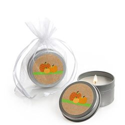 Big Dot of Happiness Pumpkin Patch – Candle Tin Fall & Thanksgiving Party Favors ̵ ...