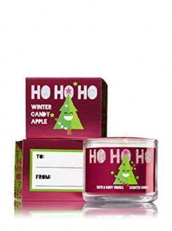 Bath & Body Works Mini Candle Ho Ho Ho Winter Candy Apple 2017