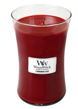 Cinnamon Chai Woodwick Candle in Glass Jar, Large – 21.5 Oz