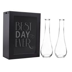 Cathy's Concepts Best Day Ever Unity sand Ceremony Shadow Box Set, Black