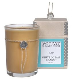 Votivo 6.8 oz Candle White Ocean Sands