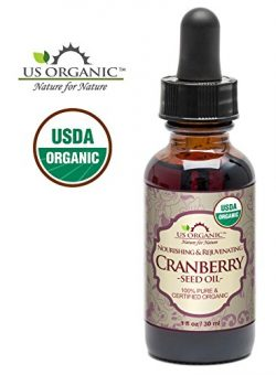 US Organic Cranberry Seed Oil, USDA Certified Organic,100% Pure & Natural, Cold Pressed Virg ...