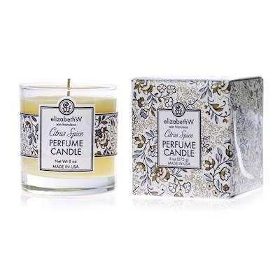 elizabeth W CITRUS SPICE Perfume Scented Jar Candle 8 oz