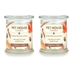 One Fur All – 100% Natural Soy Wax Candle – Pet Odor Eliminator, 60-70 Hrs Burn Time ...