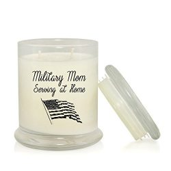 Military Mom Serving at Home 8.5 oz Soy Candle – Mother's Day Gift – Christmas ...