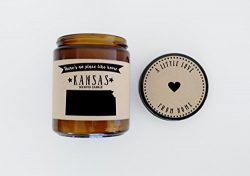 Kansas Scented Candle Missing Home Homesick Gift Moving Gift New Home Gift No Place Like Home St ...