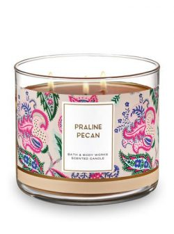 Bath and Body Works 3 Wick Scented Candle Praline Pecan 14.5 Ounce