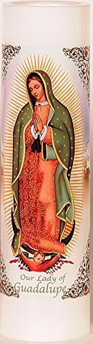 Our Lady of Guadalupe | Virgen de Guadalupe | LED Flameless Prayer Candle with Automatic Timer | ...