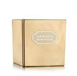 SPRING Scented Luxury Coconut wax Golden Candle Home Decor (Cubic 8.5 oz, Orchid Seduction)