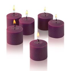 Light In the Dark Purple Votive Candles – Box of 12 Unscented Candles – 10 Hour Burn ...