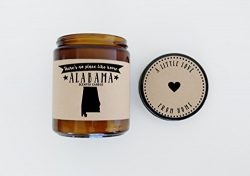 Alabama Scented Candle Missing Home Homesick Gift Moving Gift New Home Gift No Place Like Home S ...
