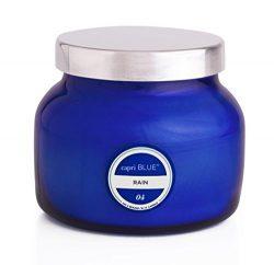 Capri Blue Rain Petite Blue Signature Jar, 08 Oz