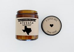 Texas Scented Candle Missing Home Homesick Gift Moving Gift New Home Gift No Place Like Home Sta ...