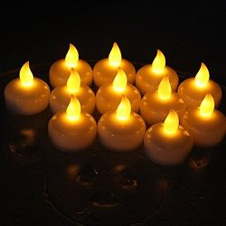 Set of 24 Flameless Floating Candles, Battery Operated Tea Lights Candle -Decorative, Wedding, C ...