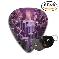Doppyee Classic Candle Waterfall 351 Shape Celluloid Guitar Picks 6 Pack Includes Thin, Medium & ...