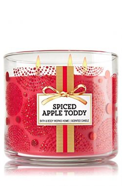 Bath & Body Works Home Spiced Apple Toddy Scented Candle 3 Wick 14.5 Oz Limited Edition Wint ...
