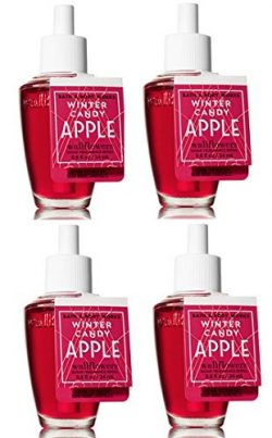 Bath and Body Works 4 Pack Winter Candy Apple Wallflower Fragrance Refill 0.8 Oz