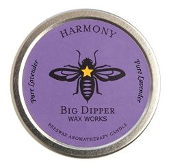 Big Dipper Wax Works AT1DHAR Beeswax Aromatherapy Candle Harmony Tin
