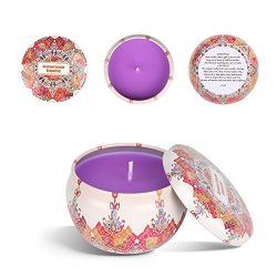 Laluztop Scented Candles Gift Set(Jasmine, Grapefruit,Peach & Lotus) 100% Soy Candles Scente ...