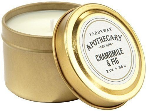 DistiKem(TM) Paddywax Candles Apothecary Collection Candle Tin, 2-Ounce, Chamomile and Fig