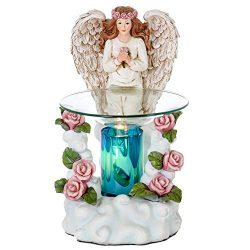 Angel Poly-resin Oil Burner – Wax Melter – Candle Burner – Air Freshener ̵ ...