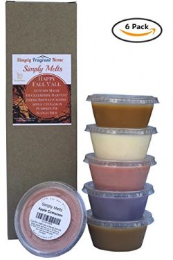 Scented Wax Melts Variety Pack – Hand Poured Natural Soy Wax Melt Cups, 6 Resealable Cups  ...