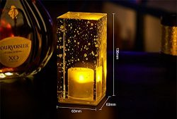 LongYu Night light crystal bubble modern led colorful discoloration bar table lamp KTV bar resta ...