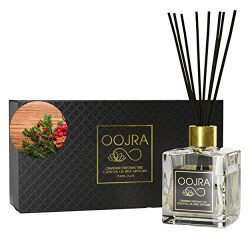 Oojra Canadian Christmas Tree Essential Oil Reed Diffuser Gift Set, Glass Bottle, Reed Sticks, N ...