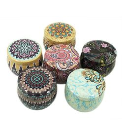 Seamless Candle Tin Jars,DIY Candle making kit,retro European style candle holder storage case f ...