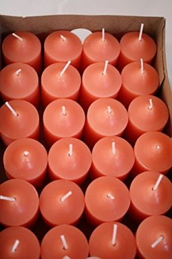 Enlightened Ambience 24 Grapefruit Hightly Scented Votive Candles, Long-burning