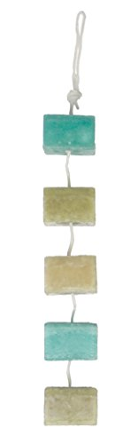 DecoFLAIR Candles On A Rope Scented Tealight Votive Candles, Hibiscus Tea, String of 5 Candles