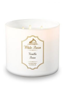 Bath and Bodyworks White Barn 3 Wick Candle Vanilla Bean