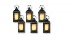 """Just In Time for Winter"" {6pc Set} 10″ Decorative Lanterns + L E D Lighted Ca ..."