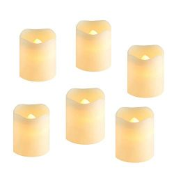 Flameless LED Tea Light Candles,LED Votive Candles,Battery-Operated Realistic Bulk Flickering Ca ...