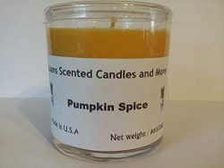 Pumpkin Spice 8 oz Scented Candle – Brown and Orange – Juans Scented Candles and More